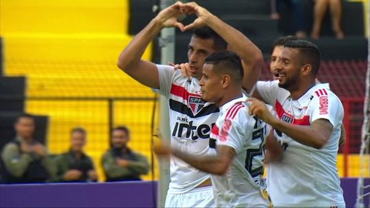 Os gols de Sport 1 x 3 São Paulo pela 18ª rodada do Brasileirão