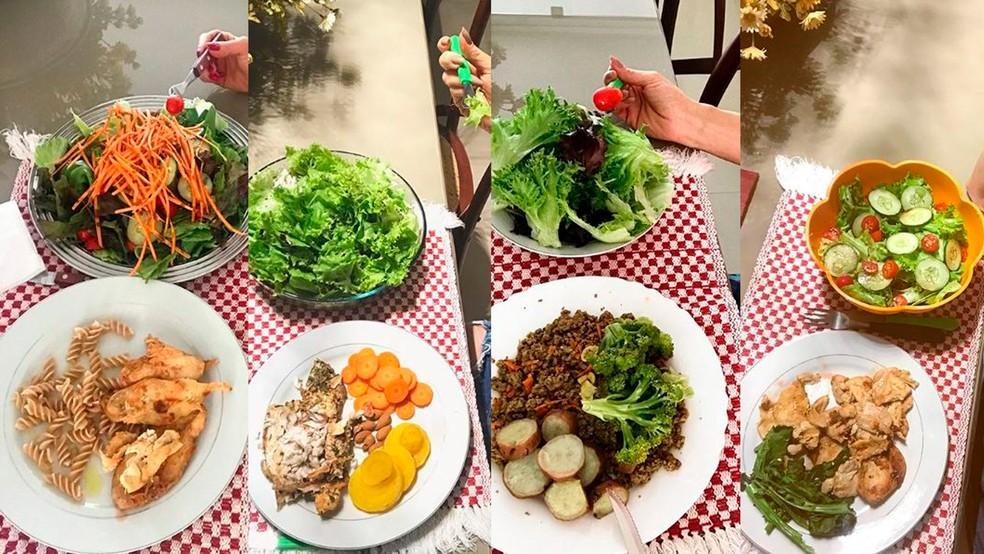 Karina Lucco é focada na alimentação saudável — Foto: Arquivo pessoal