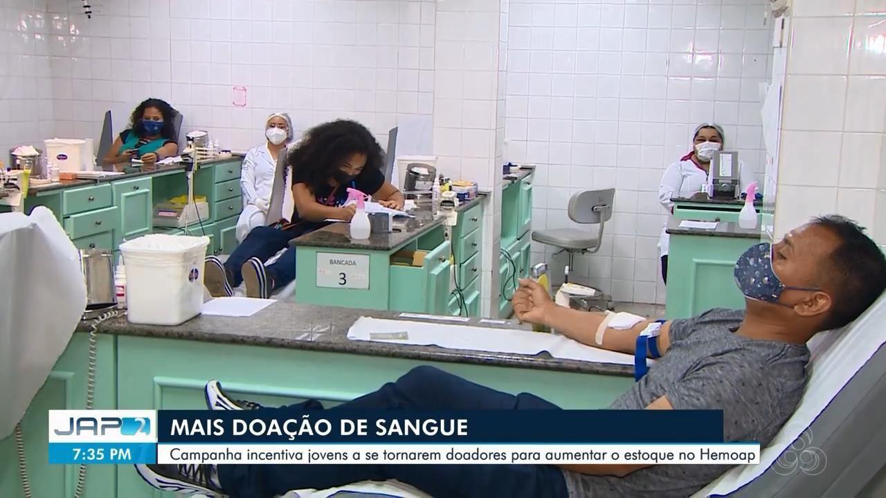 Campanha incentiva jovens a se tornarem doadores de sangue para aumentar estoque do Hemoap