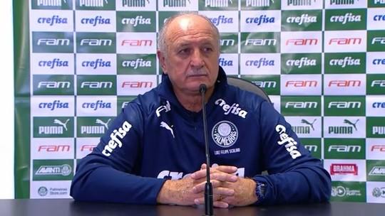 """Felipão questiona arbitragem e admite erro nas alterações do Palmeiras: """"Sim, foi isso"""""""