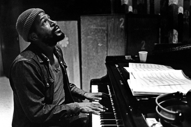 Marvin Gaye no estúdio da Motown (Foto: Getty Images)