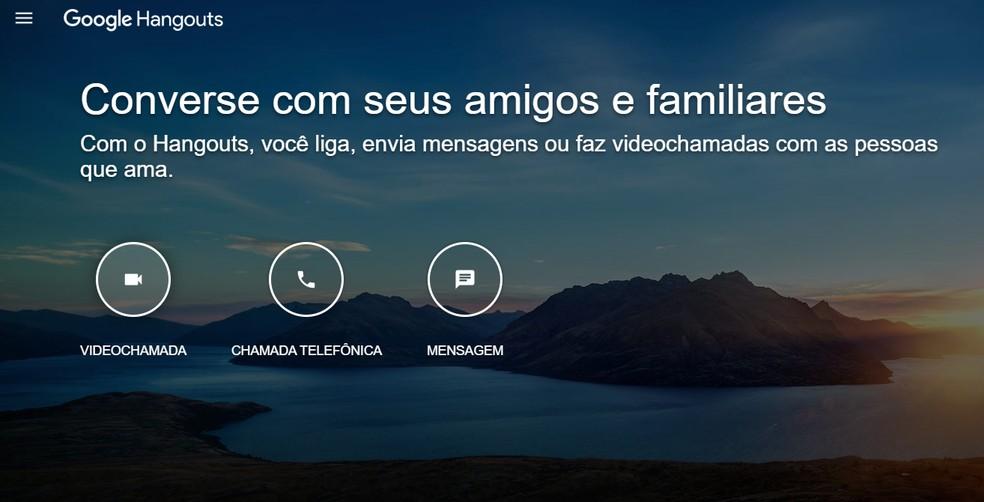 Com interface simples e intuitiva, Google Hangouts ajuda a reunir colegas de trabalho online — Foto: Reprodução/Google Hangouts