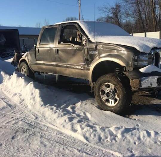 Carro de Meister depois de acidente ocorrido em janeiro deste ano (Foto: Beacon Health System)
