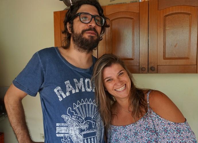 Ilmar acompanhado da irmã, Kamila (Foto: Raquel Gonzalez / Gshow)