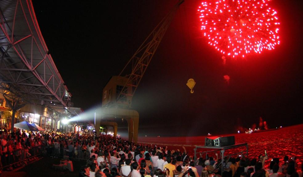 Réveillon da Estação das Docas terá 15 minutos de queima de fogos, em Belém. — Foto: Everaldo Nascimento/ OS Pará 2000