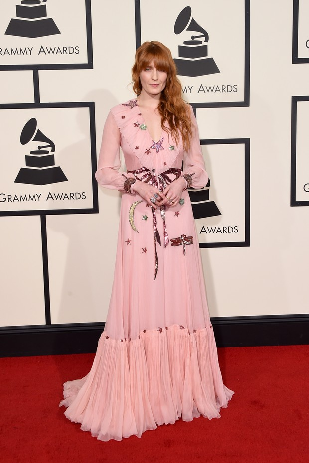 Florence Welch vestiu Gucci no Grammy 2016 (Foto: Getty Images)