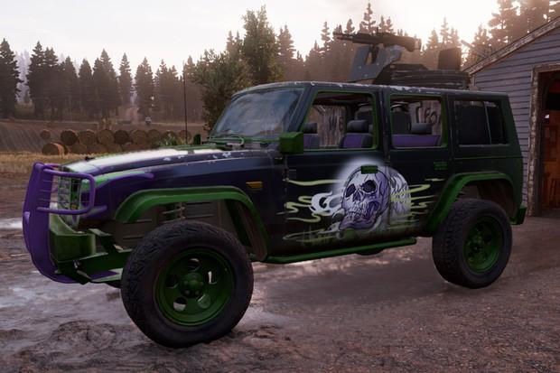 Seu primeiro veículo armado pode ser esse Wrangler chamado de Death Wish (Foto: Divulgação)