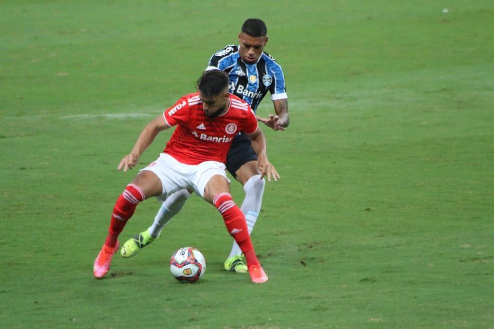 Yuri Alberto Ruan Inter Grêmio Gre-Nal Arena — Foto: Eduardo Moura