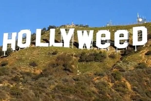 Letreiro de Hollywood é vandalizado (Foto: Backgrid USA)