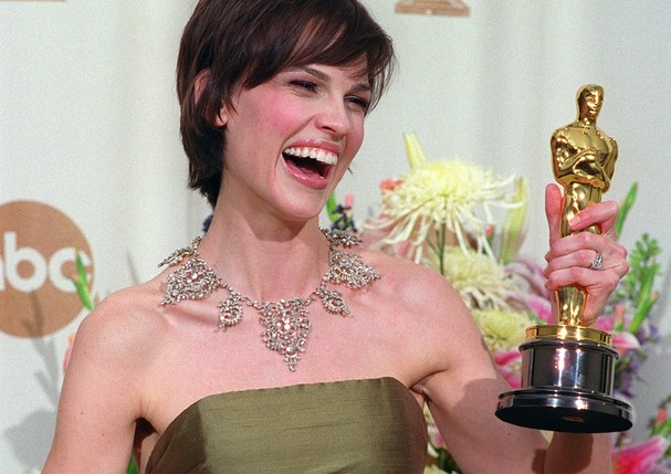 Hillary Swank no Oscar de 2000 (Foto: Getty Images)