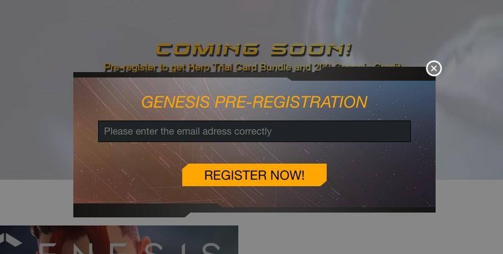 Como se registrar em Genesis para PS4 — Foto: Reprodução/Felipe Vinha