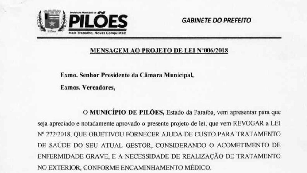 Após a repercussão, prefeito reconheceu que lei não atendia ao interesse público (Foto: Reprodução)