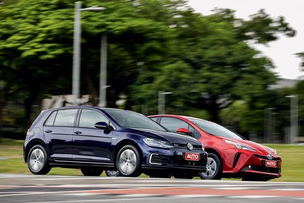 Comparativo VW Golf GTE x Toyota Prius (Foto:  Chris Castanho/Autoesporte)