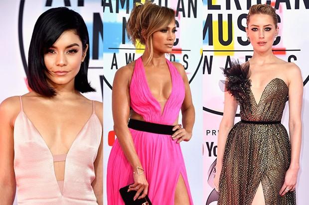 Looks ousados são destaque no American Music Awards (Foto: Getty Images)