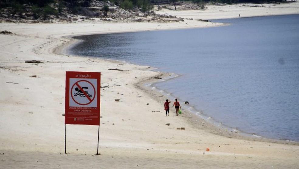 Interdição da Praia da Ponta Negra Para visa garantir a segurança das pessoas que forem participar do Réveillon na Ponta Negra. — Foto: Divulgação/Ponta Negra
