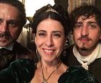 Alexandre Nero, Fernanda Torres e Johnny Massaro gravam 'Filhos da pátria' | Reprodução