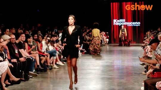 Niara Meireles desfila no Dragão Fashion Brasil e confere os bastidores do festival
