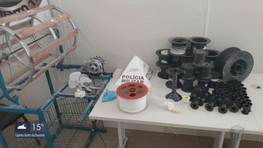 Polícia Militar descobre 'fábrica' de linhas chilenas em Três Corações, MG