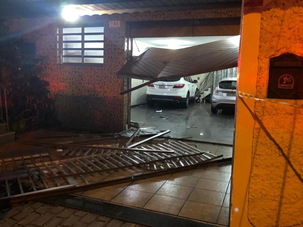 Acidente envolvendo o volante Ralf, do Corinthians — Foto: Ana Canhedo