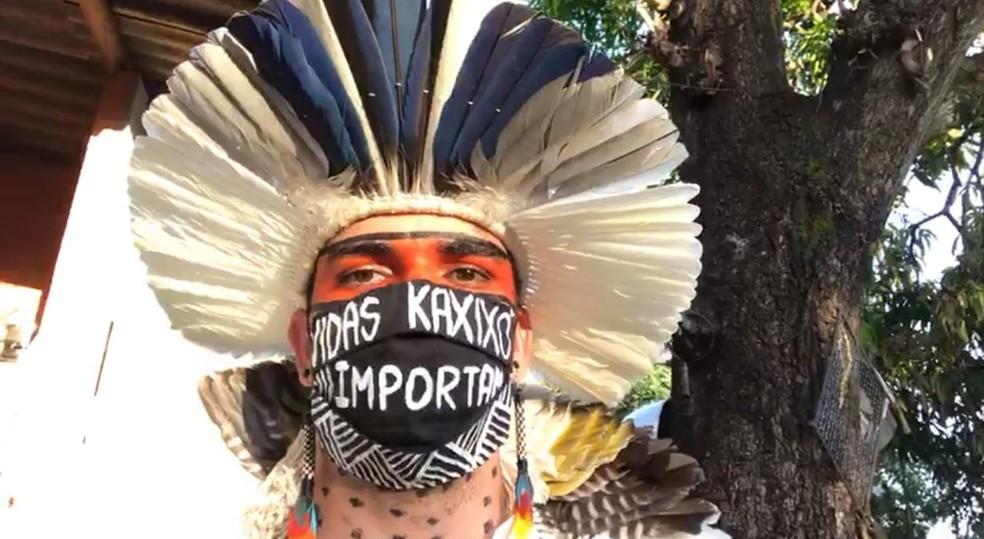 Otávio Costa representante da Comunidade indígena Kaxixó em Martinho Campos  — Foto: Otávio Costa/Divulgação