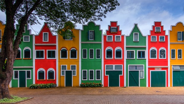 Beautiful houses from Holanbra/Brasil (Foto: Getty Images/iStockphoto)