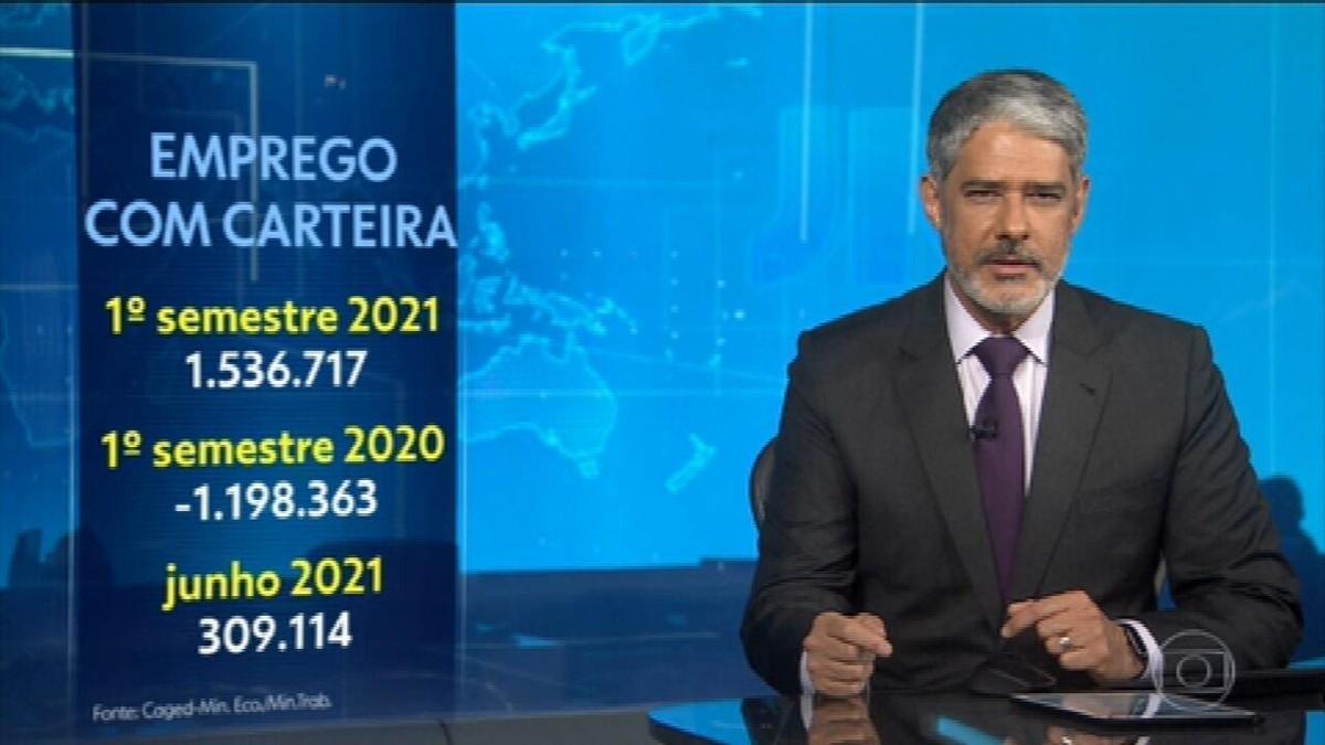 Brasil cria 1,5 milhão de empregos formais no primeiro semestre de 2021