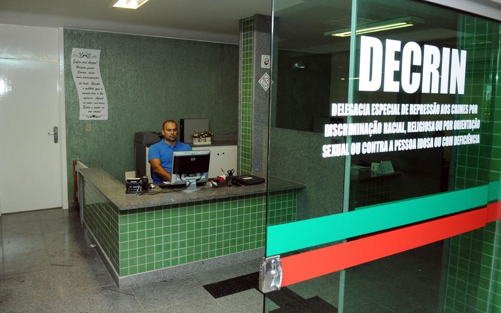 Decrin - delegacia de repressão aos crimes de intolerância do DF — Foto: GDF/DIVULGAÇÃO