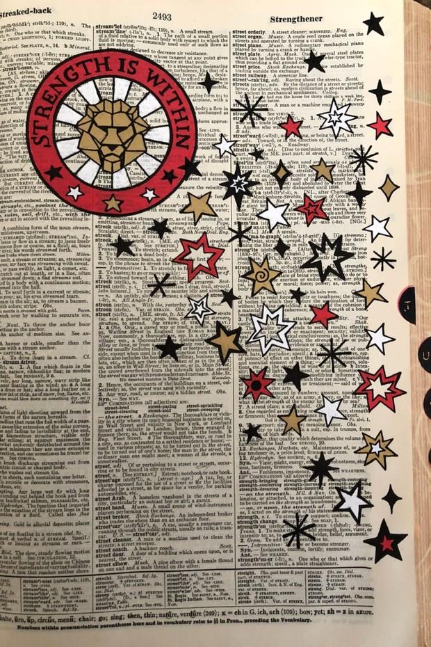 Ana Strumpf ilustra dicionário de 1980  para Beth Bugdaycay, da Foundrae (Foto: Arquivo Pessoal)