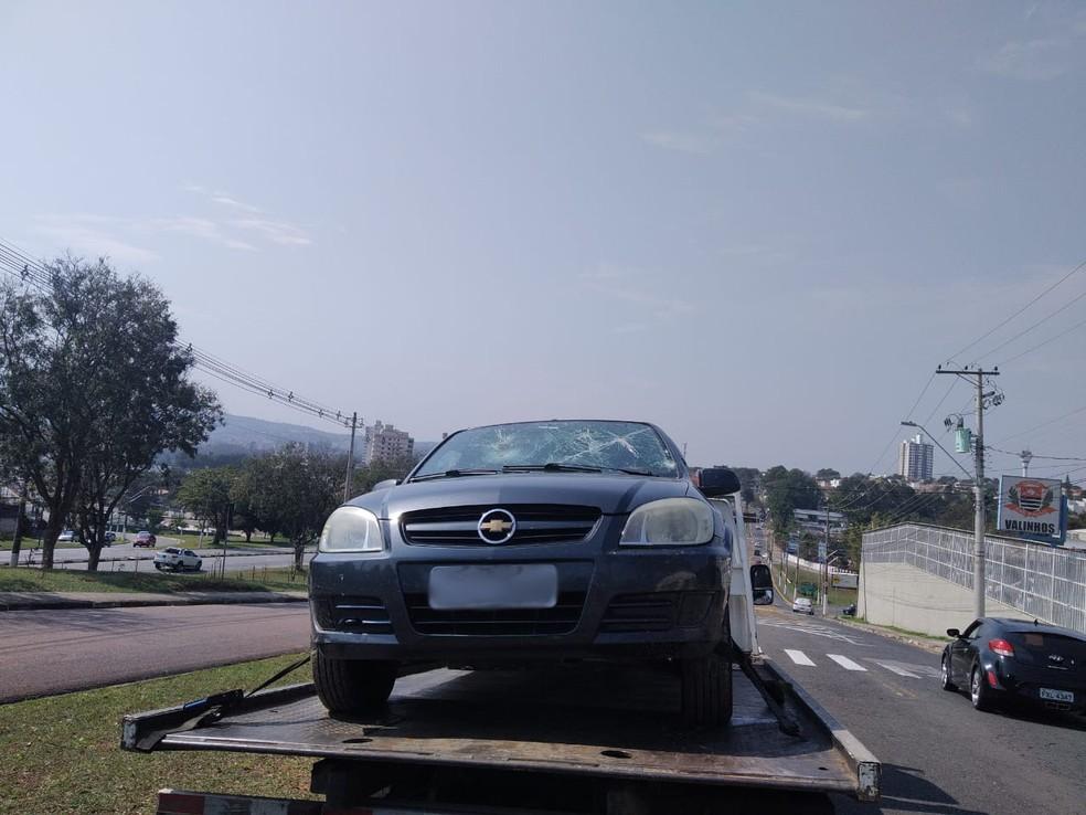 Criminosos utilizaram veículo da família para fugir — Foto: Arquivo pessoal