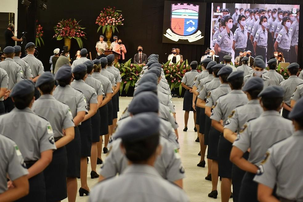 Formatura de soldados da PM no RN — Foto: Elisa Elsie/Governo do RN
