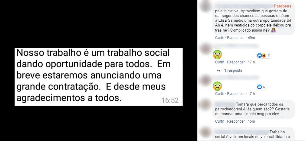 Torcedores criticam acerto com o goleiro Bruno — Foto: Reprodução Facebook