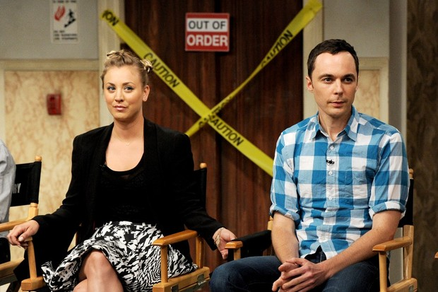 Penny e Sheldon - ou a popular e o nerd - de 'Big Bang Theory' (Foto: Getty Images)