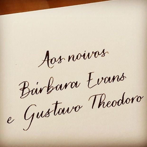 Save the date do casamento de Bárbara Evans e Gustavo Theodoro (Foto: Reprodução/Instagram)