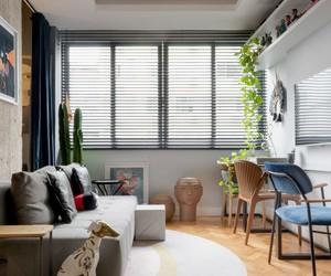 Apartamento alugado de 45 m² foi reformado pelo próprio morador