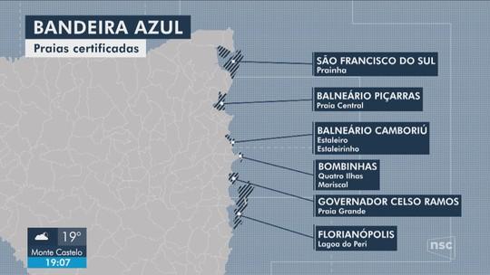 Santa Catarina terá 8 praias e 2 marinas com certificação internacional 'Bandeira Azul'