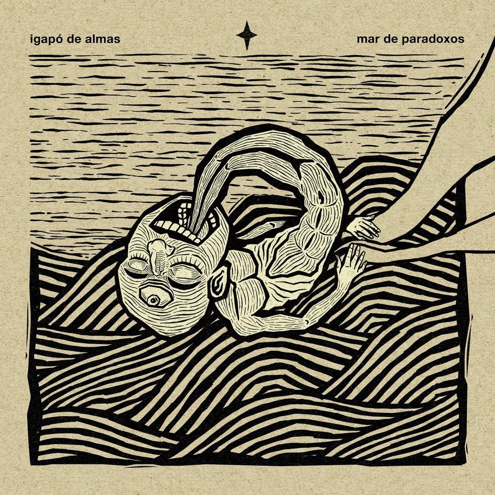 Capa do álbum 'Mar de paradoxos', de Igapó de Almas — Foto: Divulgação