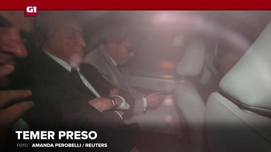 G1 em 1 Minuto: Justiça autoriza que Temer fique preso em batalhão da PM em São Paulo