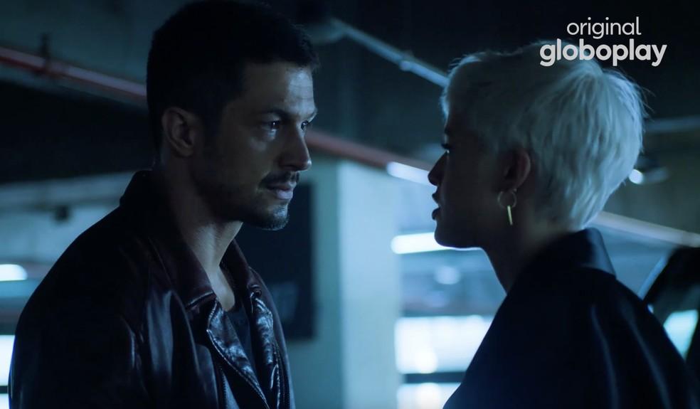 Romulo Estrela e Agatha Moreira em cena de 'Verdades Secretas 2' — Foto: Globoplay