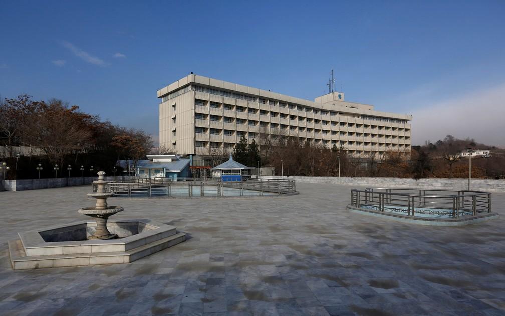 Vista do Hotel Intercontinental, em Cabul, no Afeganistão, em foto de 25 de janeiro de 2016 (Foto: Reuters/Mohammad Ismail/File Photo)