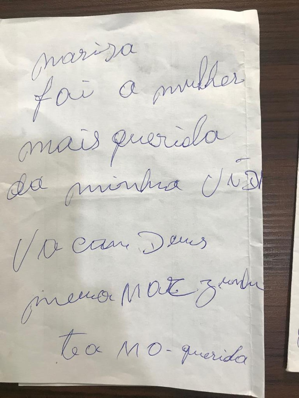 Suspeito de matar mulher em Piraquara e deixar bilhete tem 70 anos e é considerado foragido pela polícia  Foto: Reprodução/ Polícia Civil