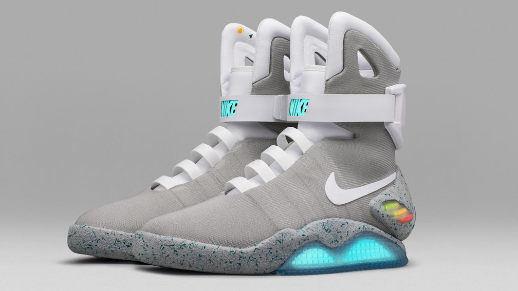 Nike Mag, tênis de Marty McFly em 'De volta para o futuro 2', ganhou réplica totalmente funcional em 2016 (Foto: Divulgação/Nike)