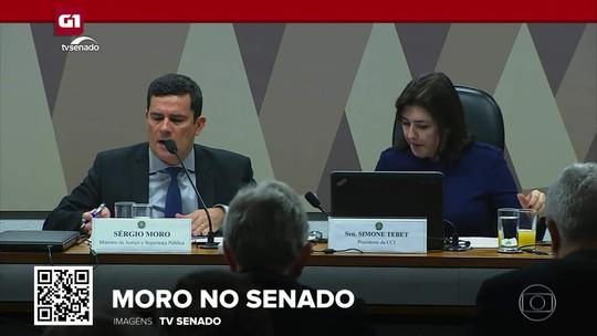 """G1 em 1 Minuto: """"Não tenho apego ao cargo. Se houver irregularidade, eu saio"""", diz Moro"""
