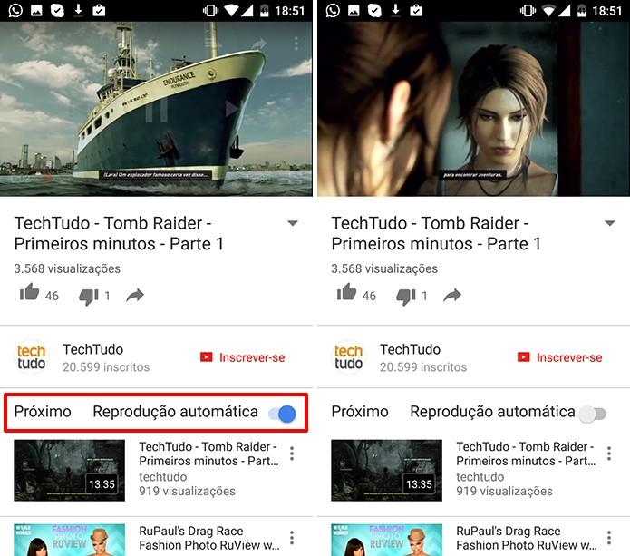 YouTube para Android pode ter reprodução automática desativada uma única vez (Foto: Reprodução/Elson de Souza)