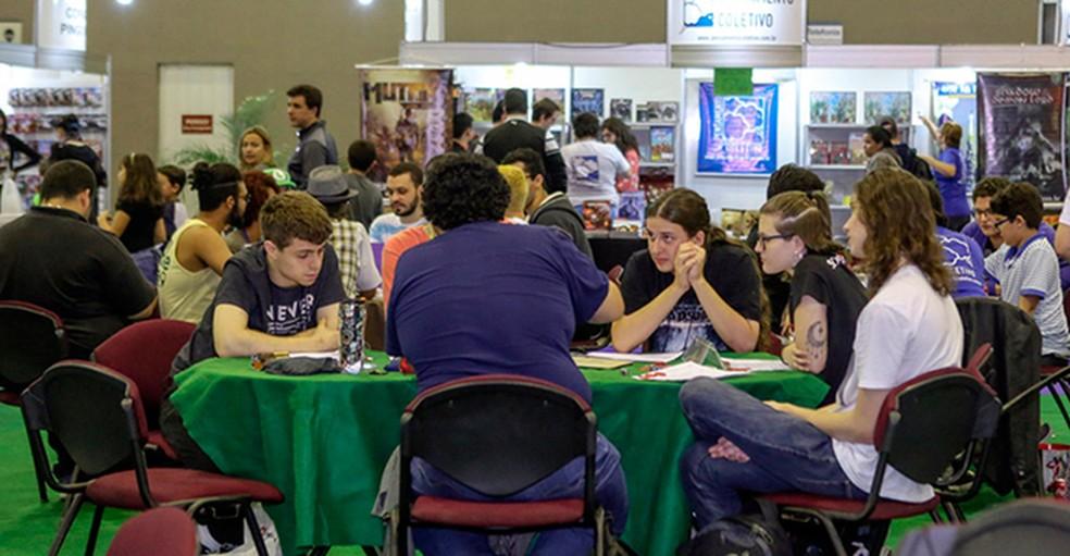 O D20 District tem foco em Jogos de tabuleiro e card games (Foto: Divulgação/GGRF)