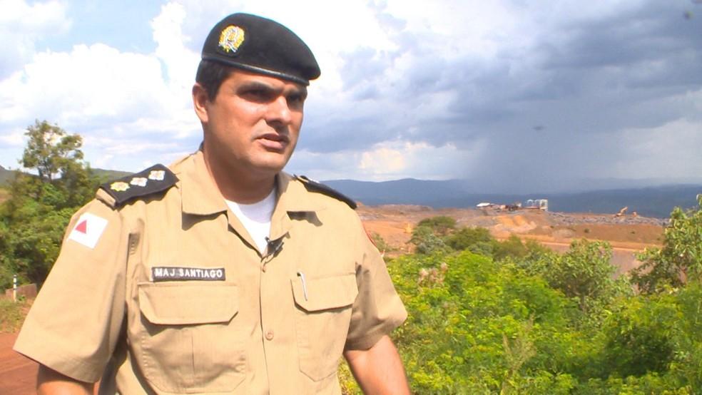 O porta-voz da Polícia Militar de Minas Gerais, major Flávio Santiago — Foto: Jorge Soares/G1