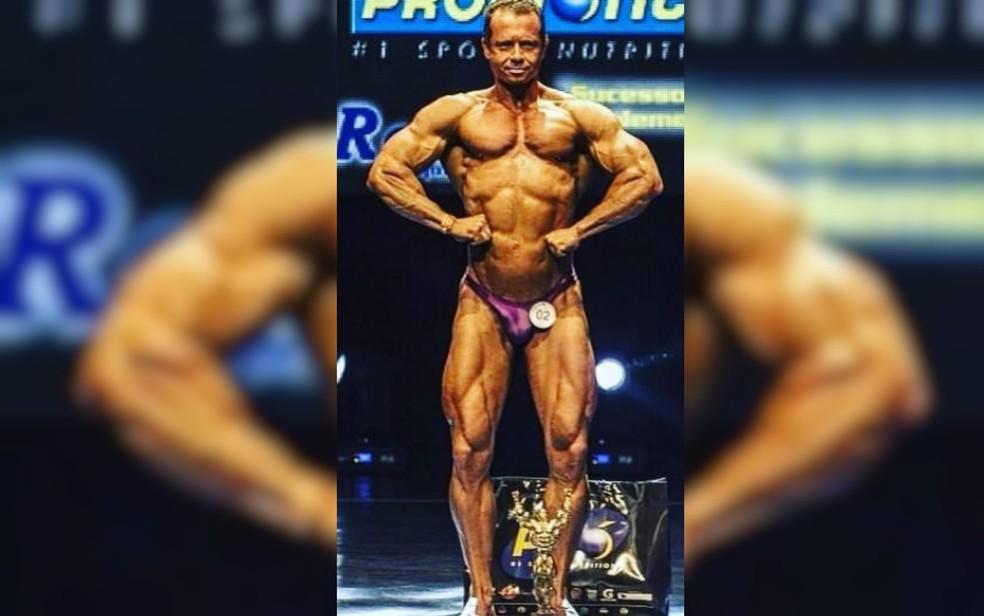 Djalma Batista já foi campeão de fisiculturismo — Foto: Reprodução/Instagram