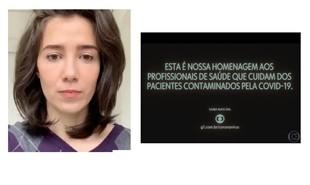 Marjorie Estiano compartilhou homenagem aos profissionais da saúde e escreveu: 'Defenda o SUS. Toda a minha admiração' | Reprodução/Instagram
