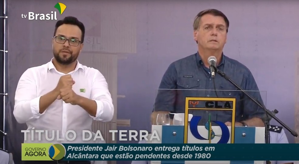 Em visita ao Maranhão, Bolsonaro diz que reclamação de falta de leitos de UTI para o Maranhão 'não se justifica' — Foto: Reprodução/TV Brasil