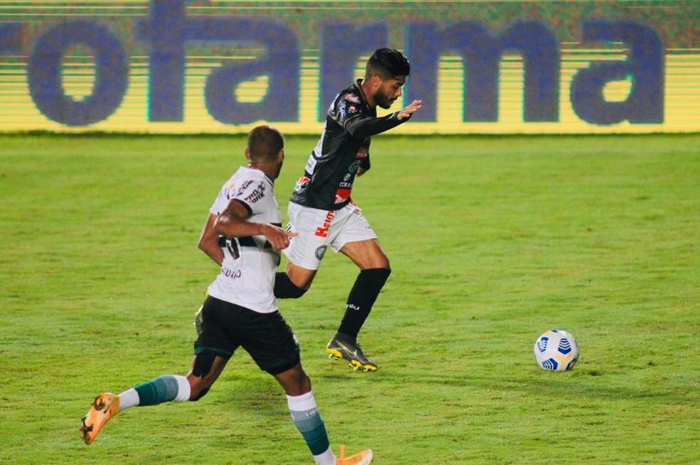 Djalma Silva tem três gols pelo Fantasma em 2021 — Foto: André Jonsson/OFEC