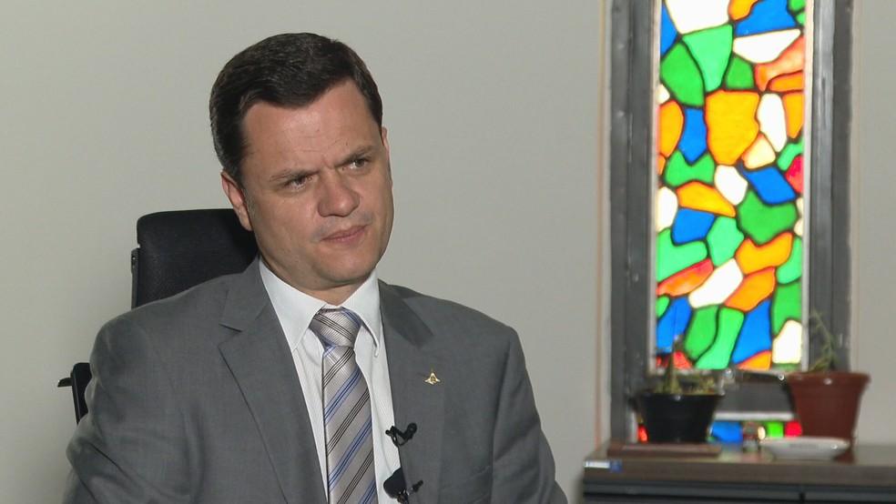 Secretário de Segurança Pública, Anderson Torres, em entrevista à TV Globo  — Foto: TV Globo/Reprodução